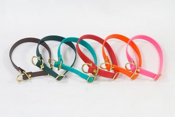 Bellepet - Biothane-Halsband extra breit mit Zugstop - Messing
