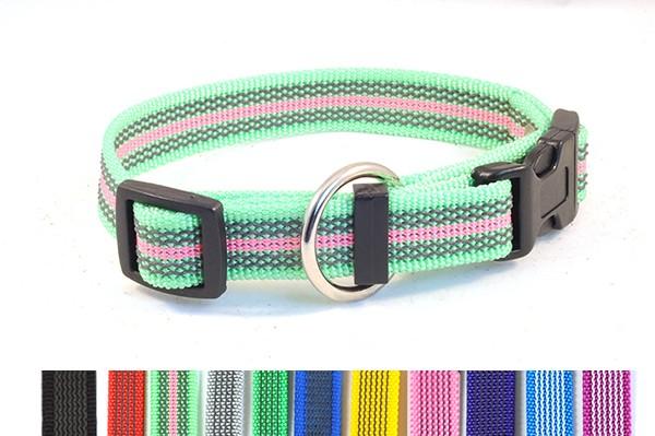 Bellepet Halsband mit Zugentlastung aus gummiertem Nylon