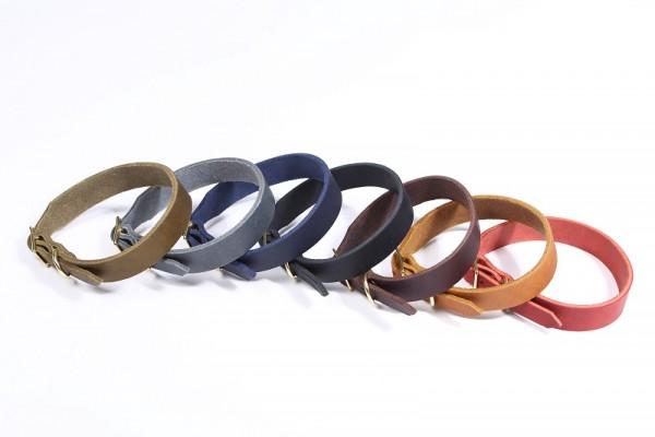 """Bellepet Fettleder-Halsband """"Pure Basic"""" - Chrom"""