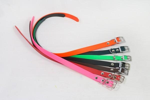 Bellepet - Biothane-Halsband mit Schnalle - Chrom