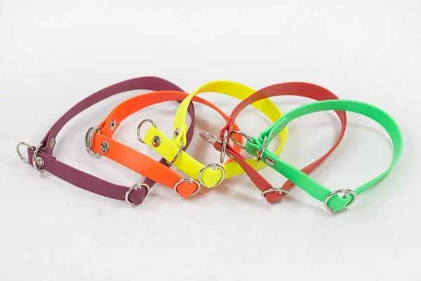 Bellepet - Biothane-Halsband extra breit mit Zugstop - Chrom