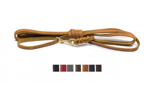 Bellepet - Fettlederleine 15m ohne Handschlaufe - Messing